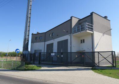 1.SE 110/15kV Bursaki - Widok budynku stacji od strony południowej