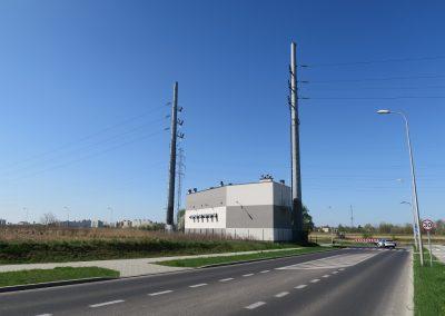 2.SE 110/15kV Bursaki - Widok budynku stacji od strony północnej