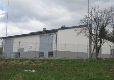 1.SE 110/15kV Przemyśl Głęboka - Budynek stacij widok od strony komór transformatorowych 110/15kV i rozdzielni 110kV