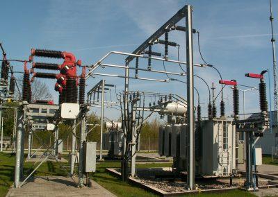1.SE 110/15kV Stobiecko w Radomsku - Rozdzielnia 110kV - AIS moduły COMPPAS (pole transformatora 110kV)